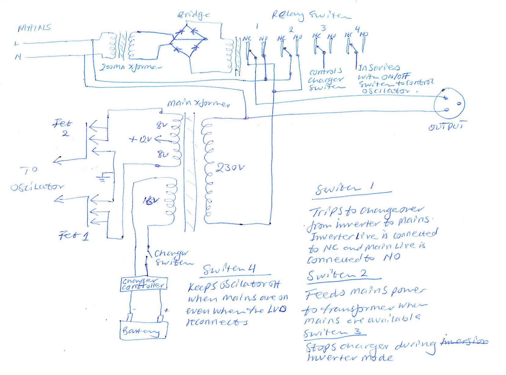 Inverter Charger Wiring Diagram Iso 1048721995 Passenger Cars C Harging A Battery Through 3 Or More Stage Switch Mode From An Generator