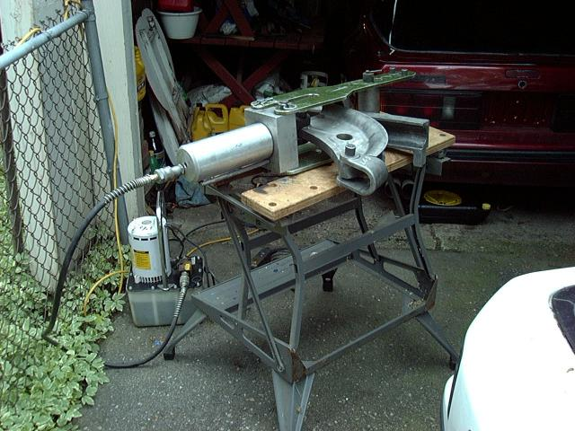 Exhaust Tubing Bender >> Project Tina, May 20th, 2002: Intercooler Piping, Throttle ...